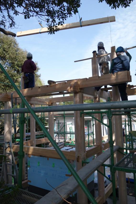 棟木の設置